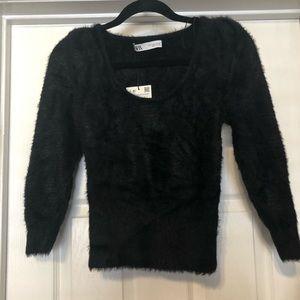 NEVER WORN black Zara sweater